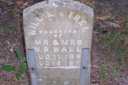 HALL, WILLIE ETHEL - Prairie County, Arkansas   WILLIE ETHEL HALL - Arkansas Gravestone Photos