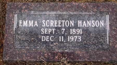 SCREETON HANSON, EMMA - Prairie County, Arkansas | EMMA SCREETON HANSON - Arkansas Gravestone Photos