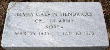 HENDRICKS (VETERAN KOR), JAMES CALVIN - Prairie County, Arkansas   JAMES CALVIN HENDRICKS (VETERAN KOR) - Arkansas Gravestone Photos