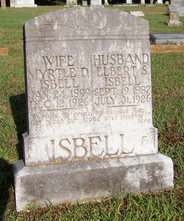 ISBELL, MYRTLE D - Prairie County, Arkansas | MYRTLE D ISBELL - Arkansas Gravestone Photos