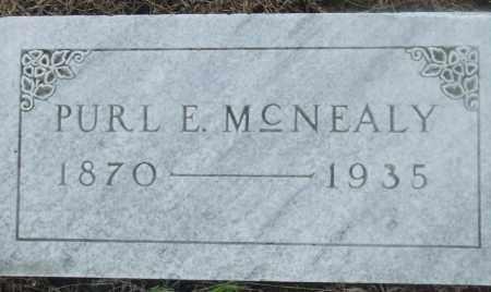 MCNEALY, PURL E - Prairie County, Arkansas   PURL E MCNEALY - Arkansas Gravestone Photos