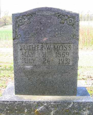 MOSS, LUTHER WILSON - Prairie County, Arkansas   LUTHER WILSON MOSS - Arkansas Gravestone Photos