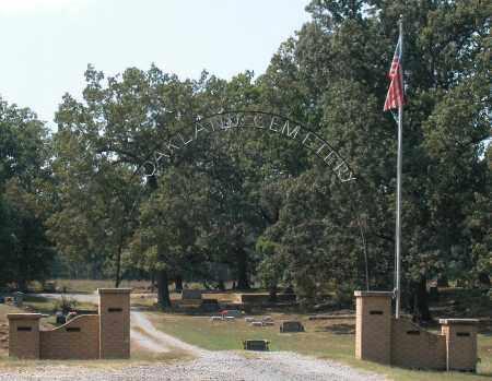*OAKLAND CEMETERY ENTRANCE, . - Prairie County, Arkansas   . *OAKLAND CEMETERY ENTRANCE - Arkansas Gravestone Photos