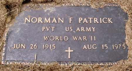 PATRICK (VETERAN WWII), NORMAN F - Prairie County, Arkansas | NORMAN F PATRICK (VETERAN WWII) - Arkansas Gravestone Photos