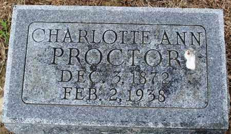 PROCTOR, CHARLOTTE ANN - Prairie County, Arkansas | CHARLOTTE ANN PROCTOR - Arkansas Gravestone Photos