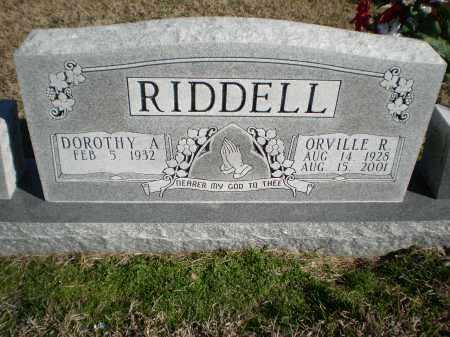 RIDDELL, ORVILLE R - Prairie County, Arkansas | ORVILLE R RIDDELL - Arkansas Gravestone Photos