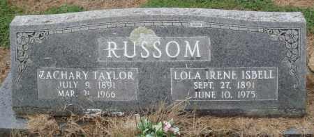RUSSOM, ZACHARY TAYLOR - Prairie County, Arkansas | ZACHARY TAYLOR RUSSOM - Arkansas Gravestone Photos