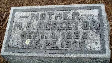 SCREETON, M E - Prairie County, Arkansas | M E SCREETON - Arkansas Gravestone Photos