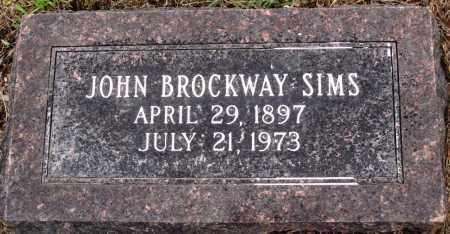 SIMS, JOHN BROCKWAY - Prairie County, Arkansas   JOHN BROCKWAY SIMS - Arkansas Gravestone Photos
