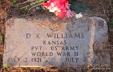 WILLIAMS (VETERAN WWII), D K - Prairie County, Arkansas | D K WILLIAMS (VETERAN WWII) - Arkansas Gravestone Photos