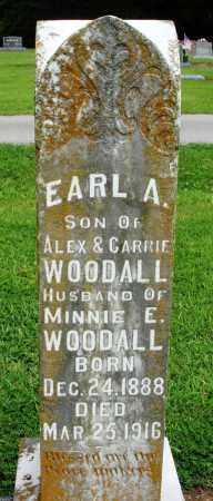 WOODALL, EARL A - Prairie County, Arkansas | EARL A WOODALL - Arkansas Gravestone Photos