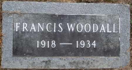 WOODALL, FRANCIS - Prairie County, Arkansas | FRANCIS WOODALL - Arkansas Gravestone Photos