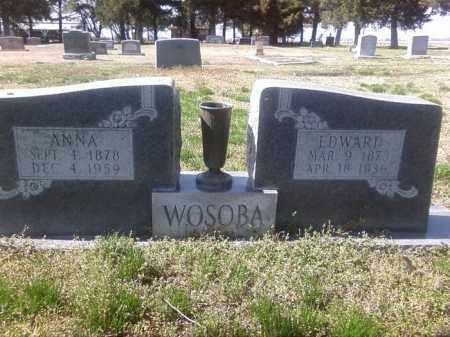 WOSOBA, EDWARD - Prairie County, Arkansas | EDWARD WOSOBA - Arkansas Gravestone Photos
