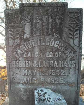 COCHRAN, FANNIE H. - Pulaski County, Arkansas | FANNIE H. COCHRAN - Arkansas Gravestone Photos