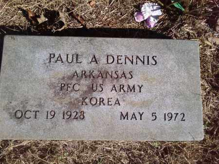 DENNIS  (VETERAN KOR), PAUL A - Pulaski County, Arkansas | PAUL A DENNIS  (VETERAN KOR) - Arkansas Gravestone Photos