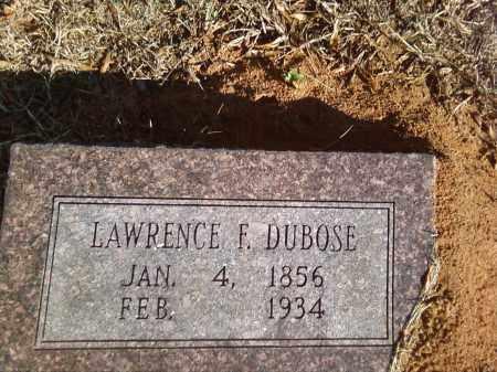 DUBOSE, LAWRENCE F. - Pulaski County, Arkansas | LAWRENCE F. DUBOSE - Arkansas Gravestone Photos