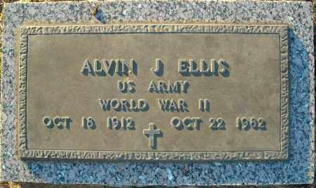 ELLIS  (VETERAN WWII), ALVIN J - Pulaski County, Arkansas | ALVIN J ELLIS  (VETERAN WWII) - Arkansas Gravestone Photos