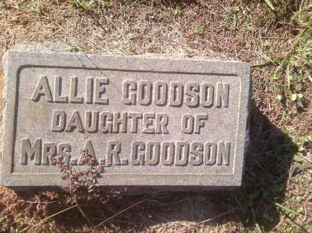 GOODSON, ALLIE - Pulaski County, Arkansas   ALLIE GOODSON - Arkansas Gravestone Photos