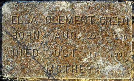 GREEN, ELLA CLEMENT - Pulaski County, Arkansas | ELLA CLEMENT GREEN - Arkansas Gravestone Photos