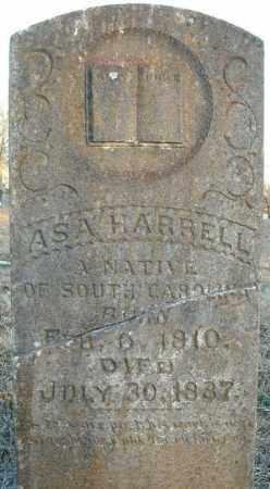 HARRELL, ASA - Pulaski County, Arkansas   ASA HARRELL - Arkansas Gravestone Photos