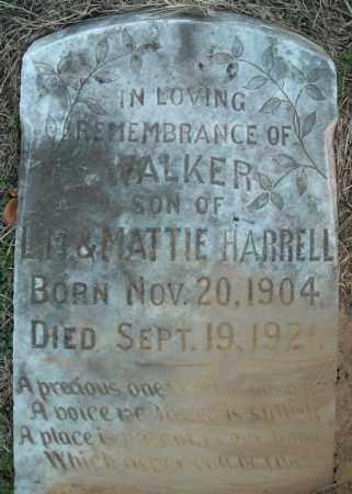 HARRELL, WALKER - Pulaski County, Arkansas | WALKER HARRELL - Arkansas Gravestone Photos