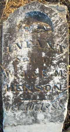 HENSON, INFANT SON - Pulaski County, Arkansas | INFANT SON HENSON - Arkansas Gravestone Photos