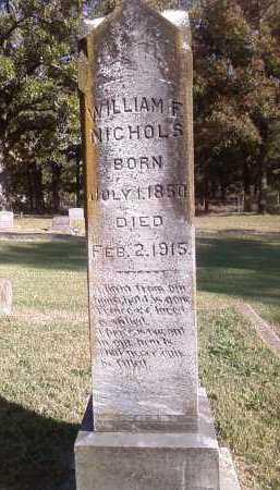NICHOLS, WILLIAM F. - Pulaski County, Arkansas | WILLIAM F. NICHOLS - Arkansas Gravestone Photos
