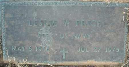 PRICE  (VETERAN), LESLIE W - Pulaski County, Arkansas | LESLIE W PRICE  (VETERAN) - Arkansas Gravestone Photos