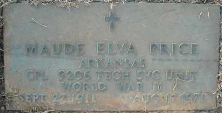 PRICE  (VETERAN WWII), MAUDE ELVA - Pulaski County, Arkansas | MAUDE ELVA PRICE  (VETERAN WWII) - Arkansas Gravestone Photos