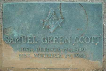 SCOTT, SAMUEL GREEN - Pulaski County, Arkansas | SAMUEL GREEN SCOTT - Arkansas Gravestone Photos