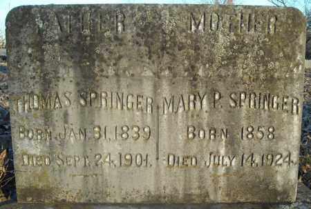 SPRINGER (VETERAN CSA), THOMAS - Pulaski County, Arkansas | THOMAS SPRINGER (VETERAN CSA) - Arkansas Gravestone Photos