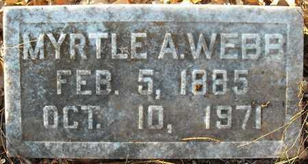 WEBB, MYRTLE A. - Pulaski County, Arkansas | MYRTLE A. WEBB - Arkansas Gravestone Photos