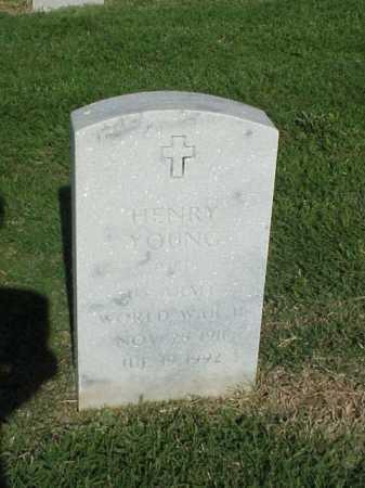 YOUNG (VETERAN WWII), HENRY - Pulaski County, Arkansas | HENRY YOUNG (VETERAN WWII) - Arkansas Gravestone Photos