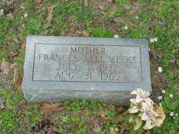 WEEKS, FRANCES NELL - Pulaski County, Arkansas | FRANCES NELL WEEKS - Arkansas Gravestone Photos