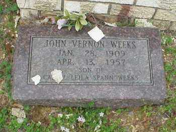 WEEKS, JOHN VERNON - Pulaski County, Arkansas   JOHN VERNON WEEKS - Arkansas Gravestone Photos