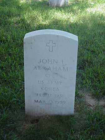ABRAHAM (VETERAN KOR), JOHN I - Pulaski County, Arkansas | JOHN I ABRAHAM (VETERAN KOR) - Arkansas Gravestone Photos