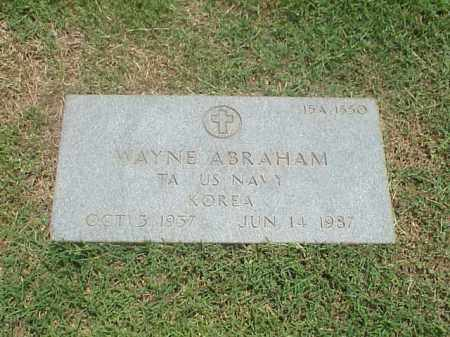 ABRAHAM (VETERAN KOR), WAYNE - Pulaski County, Arkansas | WAYNE ABRAHAM (VETERAN KOR) - Arkansas Gravestone Photos