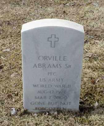 ABRAMS, SR  (VETERAN  WWII), ORVILLE - Pulaski County, Arkansas   ORVILLE ABRAMS, SR  (VETERAN  WWII) - Arkansas Gravestone Photos