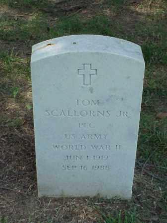 SCALLORNS, JR (VETERAN WWII), TOM - Pulaski County, Arkansas | TOM SCALLORNS, JR (VETERAN WWII) - Arkansas Gravestone Photos