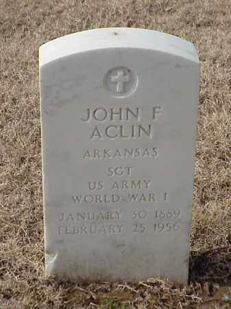 ACLIN (VETERAN WWI), JOHN F - Pulaski County, Arkansas   JOHN F ACLIN (VETERAN WWI) - Arkansas Gravestone Photos