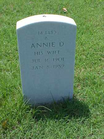 ADAMS, ANNIE D - Pulaski County, Arkansas | ANNIE D ADAMS - Arkansas Gravestone Photos