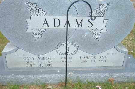 ADAMS, GARY ABBOTT - Pulaski County, Arkansas   GARY ABBOTT ADAMS - Arkansas Gravestone Photos