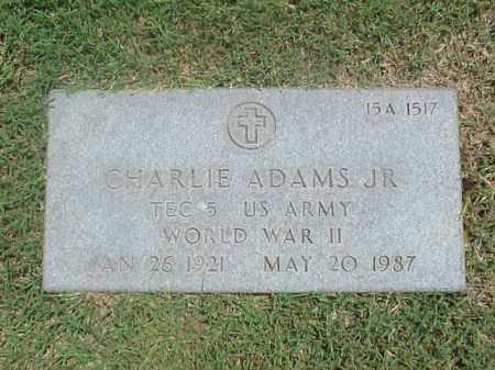 ADAMS, JR (VETERAN WWII), CHARLIE - Pulaski County, Arkansas   CHARLIE ADAMS, JR (VETERAN WWII) - Arkansas Gravestone Photos