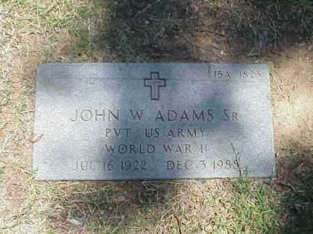 ADAMS, SR (VETERAN WWII), JOHN W - Pulaski County, Arkansas   JOHN W ADAMS, SR (VETERAN WWII) - Arkansas Gravestone Photos
