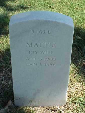 ADAMS, MATTIE - Pulaski County, Arkansas | MATTIE ADAMS - Arkansas Gravestone Photos