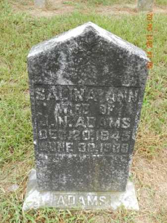 ADAMS, SALINA ANN - Pulaski County, Arkansas | SALINA ANN ADAMS - Arkansas Gravestone Photos