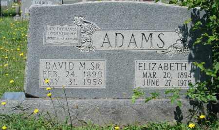 ADAMS, ELIZABETH - Pulaski County, Arkansas | ELIZABETH ADAMS - Arkansas Gravestone Photos