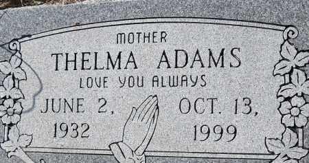 ADAMS, THELMA - Pulaski County, Arkansas | THELMA ADAMS - Arkansas Gravestone Photos