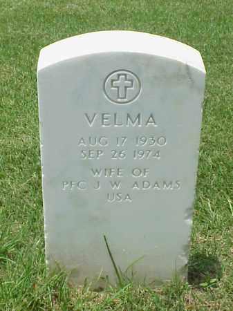 ADAMS, VELMA - Pulaski County, Arkansas | VELMA ADAMS - Arkansas Gravestone Photos