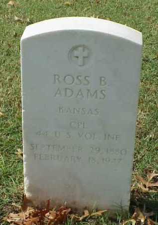ADAMS (VETERAN SAW), ROSS B - Pulaski County, Arkansas | ROSS B ADAMS (VETERAN SAW) - Arkansas Gravestone Photos